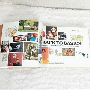 Vintage Accents - Readers Digest Back to Basics hardback book 1981